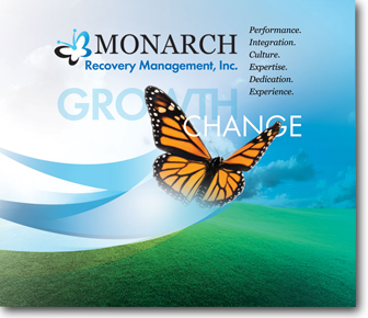 Trade Show Graphic for Monarch Recovery Management Designed by DDA