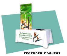 Featured  Project for Trade Show Table Covers